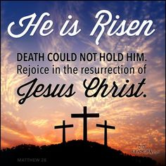 He Is Risen! Death could not hold Him. Rejoice in the resurrection of Jesus Christ! Jesus Has Risen, Christ Is Risen, Jesus Loves, God Is Risen, He Is Risen Quotes, Easter Quotes Christian, Rise Quotes, Jesus Is Alive, He Is Alive