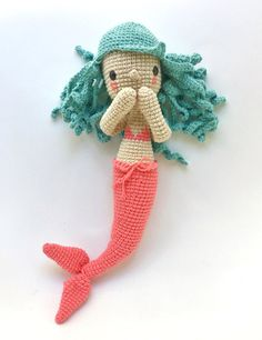 This is a PDF CROCHET PATTERN, NOT THE FINISHED DOLL.  DIEGA THE MERMAID is an…