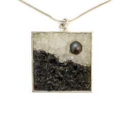 Mosaic Jewelry - Pearl, Moonstone and Labradorite Pendant