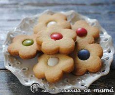 Galletas de mantequilla – video receta Flower Cookies, Cupcake Cookies, No Cook Desserts, Delicious Desserts, Cookie Recipes, Dessert Recipes, Gooey Cookies, Chocolate Chip Cheesecake, Cookie Tutorials