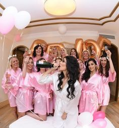 I prefer 🍾 shower! Bachelorette Party Pictures, Bachelorette Slumber Parties, Bridesmaid Pictures, Bridal Shower Party, Bridal Party Robes, Before Wedding, Wedding Poses, Brides And Bridesmaids, Dream Wedding