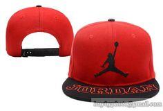 520cef6c8cee0 Casquette Jordan Snapback Rouge Noir Casquette New Era Pas Cher