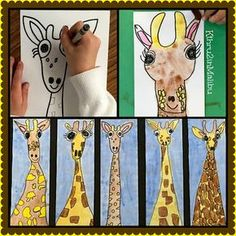 Come On Safari With Us! Directions for this EASY giraffe art project on our bl. Come On Safari With Us! Directions for t. Kindergarten Art Projects, Classroom Art Projects, School Art Projects, Art Classroom, First Grade Projects, First Grade Crafts, First Grade Art, 2nd Grade Art, Second Grade
