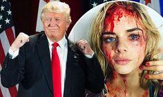 Samara Weavings blood splattered horror series photo used...