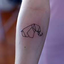 elefante de origami tattoo - Pesquisa Google