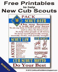 cub scout bobcat requirements 2015 - Google Search