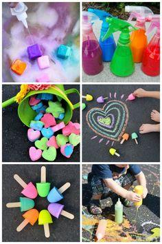 13 Ways To Make DIY Chalk via @hollyhomer