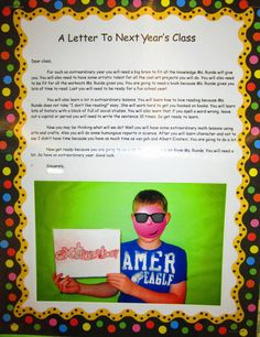 Runde's Room: A Letter to Next Year's Class