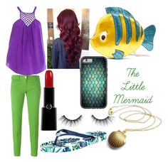"""""""Modern Princess Series #4 Ariel/The Little Mermaid"""" by thegirlwithglasses1354 ❤ liked on Polyvore featuring Rebecca Taylor, Jacob Cohёn, Tommy Bahama, Giorgio Armani, tarte, Danielle Nicole, modern and modernprincessseries"""