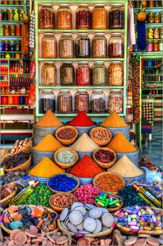 Spices on a bazaar in Marrakech at Posterlounge ✔ Affordable shipping ✔ Secure payment ✔ Various materials & sizes ✔ Buy your print now! Marrakech Souk, Visit Marrakech, Marrakech Travel, Morocco Travel, Moroccan Decor, Moroccan Style, Arabian Nights, Color Of Life, Day Tours