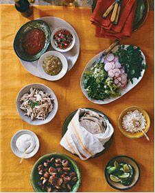 Martha Stewart Taco Bar / How to host a Cinco de Mayo party
