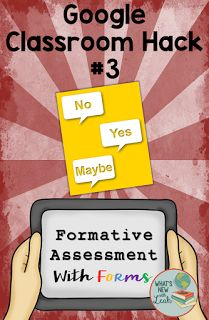 While time-consuming, Google Forms present the perfect way to formatively assess your students. Create an assessment with a variety of question types, and you're good to go! Keep in mind that this does take extra prep, so it may not be something that you