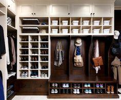 Wormy Maple Mud/Laundry Room - traditional - closet - toronto - Brice's Furniture