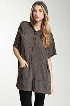 Three Dots Knit Hooded Poncho...so confy
