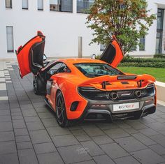 McLaren 675LT painted in McLaren Orange   Photo taken by: @munichcarspotting on Instagram