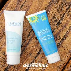 The most important thing is protecting your skin! #Dermclinic, The True Skin and Hair Clinic offers The NuDerm Moisturizing Sunblock as your physical barrier against the sun's harmful UV rays. The NuDerm Moisturizing Sunblock SPF 40 and NuDerm Moisturizing Sunblock SPF 80 is available in all Demrclinic branches.