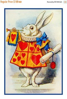 Sir John Tenniel (English, The White Rabbit, illustration from Alice's Adventures in Wonderland by Lewis Carroll Art Gallery, Alice In Wonderland Illustrations, Illustration, Drawings, Painting, Art, Rabbit Illustration, Prints