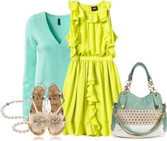 """Mint Lime Easter"" by msdeeds on Polyvore"