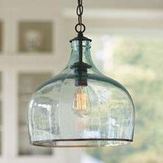 Recycled Glass Globe Light