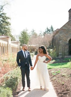 Love these #engagement photos at a monastery garden!   Photo by Kristen Lynne Photography
