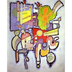 Complex Simple by Wassily Kandinsky oil painting art gallery Enhance your Home with this abstract art oil painting Complex Simple by Wassily Kandinsky. Hand-Painted artwork for interior decorating or wall decor. This contemporary oil painting makes a grea Wassily Kandinsky, Franz Marc, Abstract Words, Abstract Art, Abstract Portrait, Abstract Paintings, Oil Paintings, Painting Art, Art Beauté