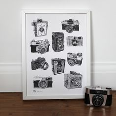 'Vintage Camera' Print