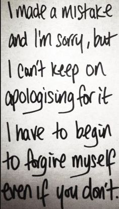 Everybody makes mistakes.  But not everybody is grown up enough to apologize.