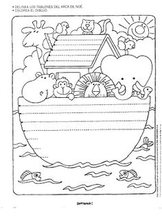 stitchery pattern/coloring page Noah's ark Pattern Coloring Pages, Bible Coloring Pages, Coloring Books, Sunday School Lessons, Sunday School Crafts, Idees Cate, Bible Activities, Bible For Kids, Bible Crafts