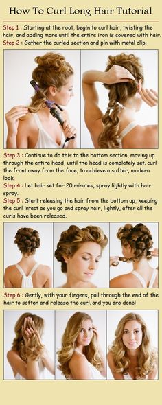 How to curl long hair.