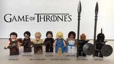 Custom Lego Game of Thrones Great Pyramid of Meereen Throne Room 9 Minifigures…