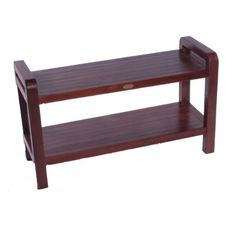 35 Extended Length Teak Bathroom Spa Bench with Shelf For Shower Bath Sauna Bathroom * Details on product can be viewed by clicking the VISIT button