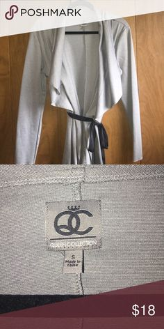 Queen Latifah Wrap Cardigan Like New - Purchased off of HSN. It is Queen Latifah's brand. Comes with a black faux suede belt. Queen Latifah Sweaters Cardigans