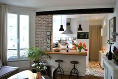 Regardez ce logement incroyable sur Airbnb : Chez Fanny et Aurélie - Appartements à louer à Paris House Design, Home Furniture, Home Decor Kitchen, House Interior, Kitchen Decor, Kitchen Remodel, Sweet Home, Home Kitchens, Kitchen Inspirations