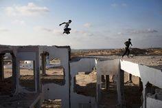 Fotos von Gazas jungen Parkourläufern