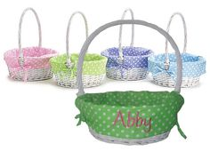 Personalized Willow Easter Basket by CreatedbyBobbi on Etsy, $28.00