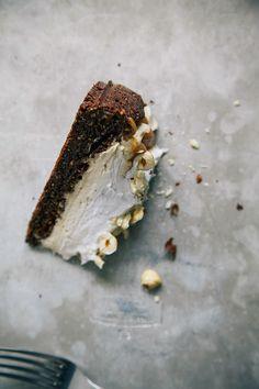 chocolate hazelnut torte w/ salty date caramel {vegan + GF}