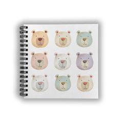 Bear Notebook Bee Design, Pattern Design, Notebook, Bear, Paper, Bears, The Notebook, Exercise Book, Notebooks