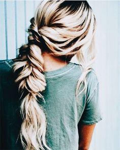 Long blonde balayage hair long hair updo ideas fishtail braids into twists My Hairstyle, Pretty Hairstyles, Braided Hairstyles, Hair Updo, Messy Hair, Everyday Hairstyles, Wedding Hairstyles, Coiffure Hair, Good Hair Day