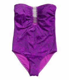 Costum de baie intreg, cu bretele discrete, H&M, 99 lei