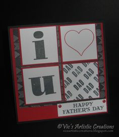 CYCI#80 - Father's Day Card #stampinup #vicsartisticcreations #guygreetings #largerthanlifealphabet #groovylove #gowildDSP