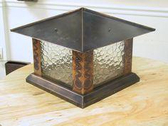 Copper post lantern