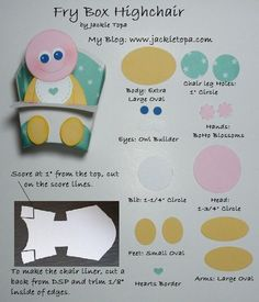 Frychair Cheat Sheet - Jackie Topa - Stampin' Up's new Fry die and a collection of punches.