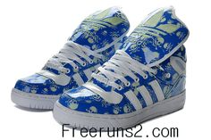 check out e94b2 5c76e Adidas Jeremy Scott Shoes off at KD 5 Low Store 32