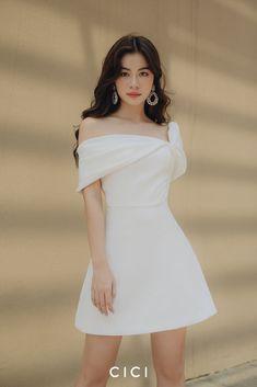 AZURE Knot Asymmetric Mini Dress – Cici Global