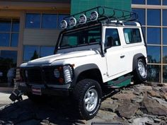 1997 Land Rover Defender 90. Artic White. 1 of only 500 built for the last year in North America. What a beast.