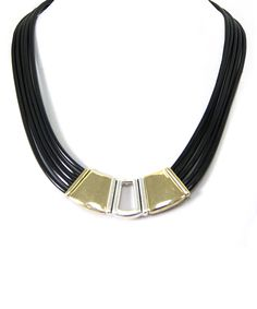 Two-Tone & Black Geo Necklace | zulily