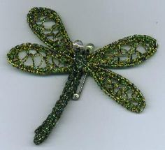 Crocheted wired dragonfly pin   Flickr - Photo Sharing!