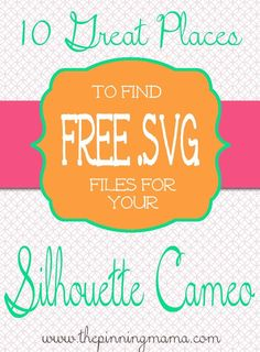 Nothing is better than free right?  This post is full of places that offer fantastic FREE SVG CUT FILES for Silhouette and Cricut crafting machines. So I am super excited to share a new Silhouette …