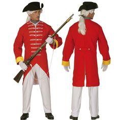 Rode soldaat kostuum. Het kostuum bestaat uit een jas, een broek en een hoed. Het rode soldaten kostuum is gemaakt van polyester en geschikt voor volwassenen. Carnavalskleding 2015 #carnaval