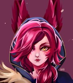 Xayah-face by clausketch